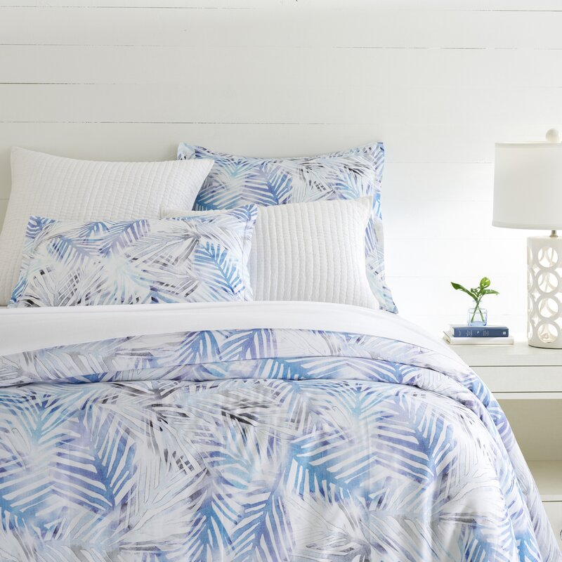 Pine Cone Hill Tranquility Blue Floral 100% Cotton Duvet Cover